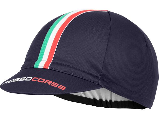 Castelli Rosso Corsa Cycling Cap Herr dark/stel blue